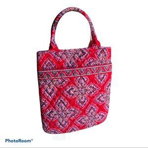 Vera Bradley frankly scarlet red cloth tote bag